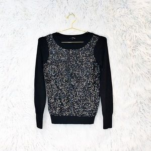Express sequined pullover sweater
